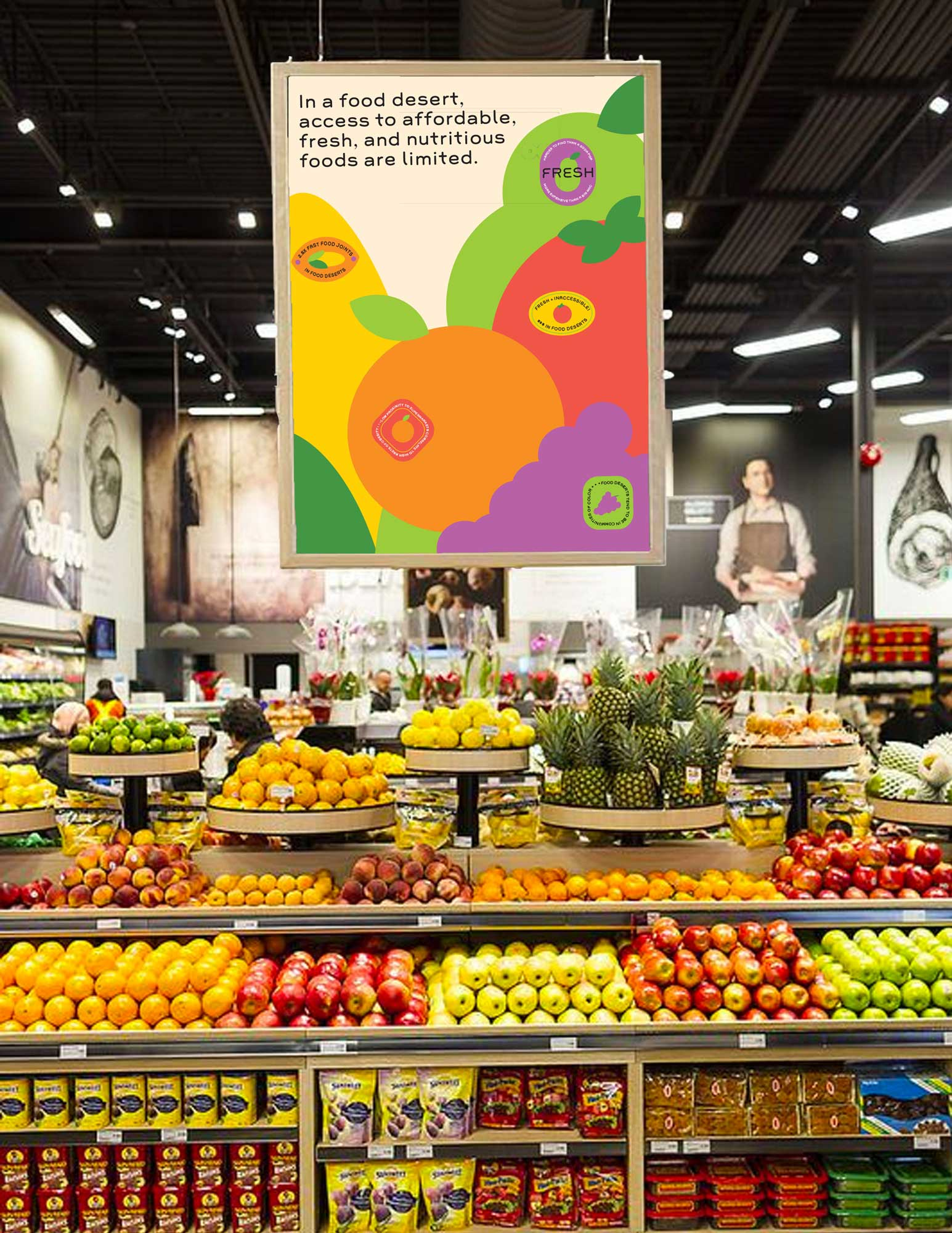 Food Desert Produce Stickers
